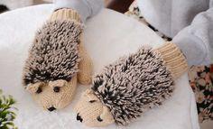 Cute Hedgehog Mittens - FREE SHIPPING!