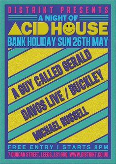 acid house flyers - Google Search