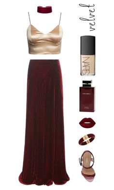 """velvet"" by babyriley ❤ liked on Polyvore featuring Etro, Dsquared2, INC International Concepts, Lime Crime, Dolce&Gabbana and NARS Cosmetics"