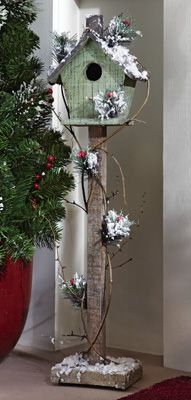 Rustic Winter Birdhouse (sorry, no longer available), Birds, Butterflies & Garden Crafts