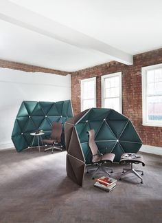 KIVO. Triangular Modules Room Dividers by Formkind.de