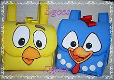 sacolinha Galinha pintadinha em eva excelente acabamento <br>não inclui embalagem.ideal para festa de aniversário eventos escolares (pedido minimo 10 unidades)