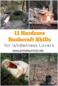 """11 Bushcraft Skills Hardcore Wilderness Lovers Will Want to Master Now.There is nothing like going into the wilderness with nothing but a few basic supplies and your own wits. I know that I'm not alone in this thought. There's recently been a huge surge in people learning bushcraft skills. In short, bushcraft is a way to enjoy nature without feeling pressure that there is a """"right"""" or a """"wrong"""" way of doing it. (If you are doing it wrong, you'll know it when you have to head home early…"""