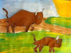 Buffalo Painting Art Project   Deep Space Sparkle