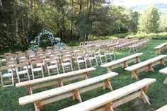 simple pine benches Image detail for -. family style events or even seating for an outdoor wedding ceremony Wedding Bench, Wedding Table Flowers, Wedding Ceremony, Chic Wedding, Wedding Dress, Ceremony Seating, Outdoor Ceremony, Wedding Food Stations, Simple Centerpieces