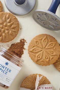 Winter Spice Stamp Cookies Recipe. Our new Winter Baking Spice and star-themed cookie stamps add holiday charm to these buttery, tender brown sugar cookies. Enhanced with just a hint of molasses to bring out their warm, holiday spice flavor, they're stamped to become simple, festively decorated cookies that will distinguish your holiday cookie assortment.