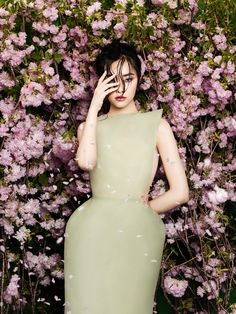 Zhang Jingna (Zemotion) - Kwak Ji Young for Phuong My SS 2014 in 'FlowersBloom'