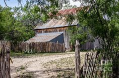 Buck Ranch Barn by Debra Martz Photography The Buck Ranch barn is located in the South Llano River State Park near Junction, Texas