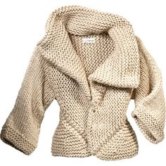 Jacket knit with needles. by MDatelier on Etsy