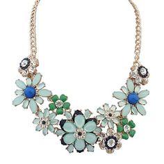 Women's Statement Necklaces Alloy Flowers Fashion Bohemian Adjustable Statement Jewelry Black Fuchsia Light Blue Rainbow JewelryWedding 2352697 2017 – $6.99