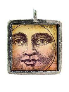 found image: vintage moon face Tattoo Sonne Mond, Vintage Images, Vintage Art, Vintage Style, Swift Bird, Eduardo E Monica, Victorian Angels, Victorian Illustration, Moon Illustration