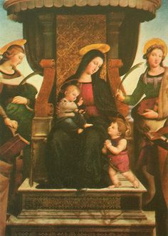 Visual Arts Analysis of Madonna and Child Enthroned with Saints - Essay Example