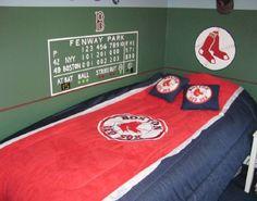 Fenway park scoreboard man cave wall decal art 2 kids for Boston red sox bedroom ideas