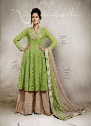 All New Style Deisgner Palazzo Suit From The Latest Nakkashi Catalogue