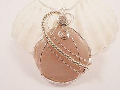 Rose Quartz Wire Wrapped Pendant Handmade Jewelry by elainesgems, $26.00