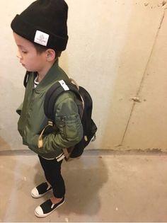 Khaki and black Black Kids Fashion, Toddler Boy Fashion, Little Boy Fashion, Kids Boys, Baby Kids, Boys Winter Clothes, Baby Boy Swag, Stylish Kids, Kid Styles