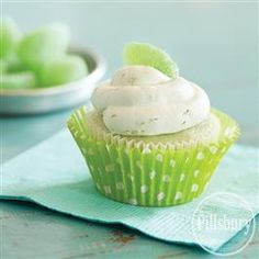 Key Lime Cupcakes with Whipped Cream Frosting from Pillsbury™ Baking