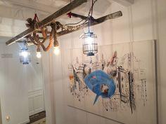 detalle lámpara en lobby del piso superior