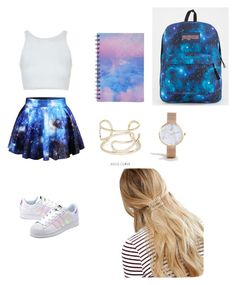 """arianna"" by ariannacastillo3 on Polyvore featuring beauty, Topshop, Forever 21, JanSport, WithChic, ASOS Curve, adidas Originals and ASOS"