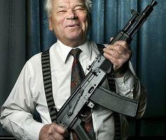 Mikhail Kalashnikov Loading that magazine is a pain! Get your Magazine speedloader today! http://www.amazon.com/shops/raeind