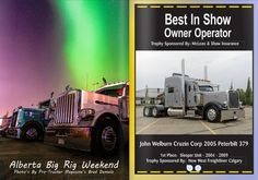 BC and Alberta Big Rig Weekends are Western Canada's two longest runningTrucker's Family Weekend Events and Big Rig Show and Shines. Each year featuring 90 to 150 working, antique and show trucks competing for over 65 trophies in over 30 categories. Onsite Registration! To register your truck for the show'n shine please arrive Friday 12 noon