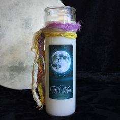 FULL MOON Jar Candle for drawing down the energy of the moon #metaphysical #SageGoddess #fullmoon #lunarmagic #moonmagic
