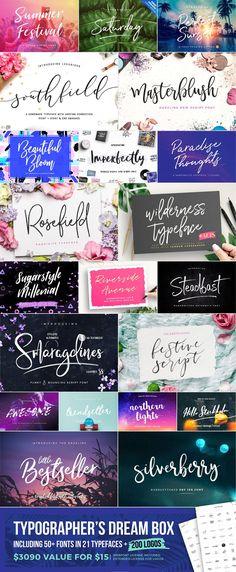 Typographer's Dream Box + 200 Logos - Script