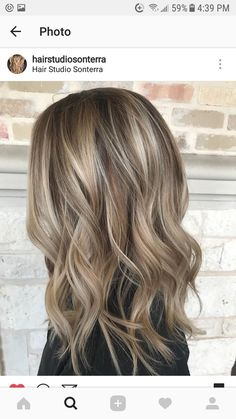 Shadowed blonde balayage