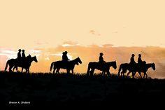 Texas Cowboys Art Wild West Men Riding Horses by GrayWolfGallery