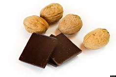 Nuts And Dark Chocolate | Dark chocolate has been found to sharpen focus because of the caffeine it contains. An ounce of nuts or seeds per day is a great source of vitamin E, which may slow cognitive decline.
