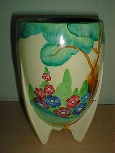 RARE Clarice Cliff Rocket Vase Fragrance Pattern Must See | eBay
