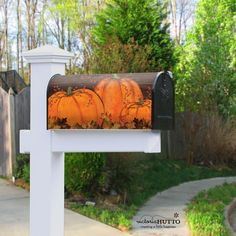 It's Fall! It's nice to add a pop of color to your home decor. This mailbox cover is just what I needed.