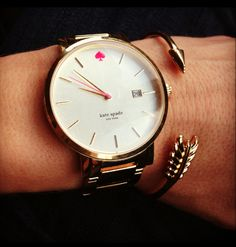 Kate Spade watch + Stella & Dot Gilded Arrow bangle