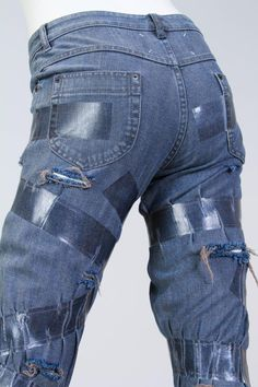 """Martin Margiela deconstructed """"taped"""" Jeans                              …"""