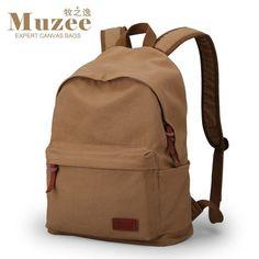 Men Canvas Backpack College School Backpack Bags Vintage Casual Rucksack Travel Daypack