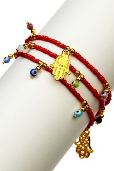 Love this Hamsa / Evil Eye bracelet
