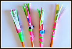 http://doubletreblecrafts.blogspot.ca/2013/08/duct-tape-sparkler-pencil-bts-craft.html