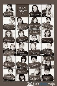 Kindergarten class photo collage of their potential professions. Really cute idea for kindergarten teacher! End Of School Year, Beginning Of School, Back To School, High School, Middle School, End Of The Year Class Party Ideas, School Life, Classroom Fun, Classroom Activities