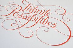 Calligraphy 2 The second part of our calligraphy... • typostrate