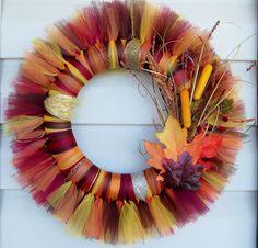 Autumn/ Fall Tulle Wreath