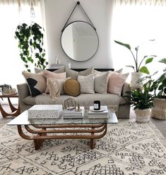 Eden Boho Basket- White™️- this couch is similar to yours Boho Living Room, Living Room Interior, Living Room Furniture, Furniture Stores, Earth Tone Living Room Decor, Living Room Decor With Grey Couch, Living Room No Tv, Simple Living Room Decor, Apartment Furniture