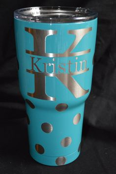 Check out this item in my Etsy shop https://www.etsy.com/listing/271667042/rtic-30-oz-tumbler-custompolka-dot-with