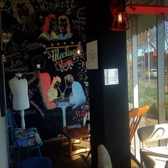 Coffee zone at La Cestería Bakery, Vintage, Eclectic and Recycle