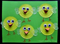 Cupcake Liner Chicks - - pinned by @PediaStaff – Please Visit  ht.ly/63sNt for all our pediatric therapy pins