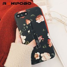 a6976f3166 US $1.94 40% OFF|Retro Classical Plants Flowers Phone Case For iphone 6 Case  For iphone 6 6S 7 8 Plus X Cartoon Cover Cases Holder Protectors-in Fitted  ...