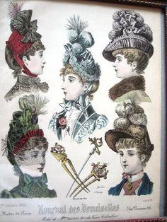 Victorian Hat Millinery - Journal des Demoiselles 1886