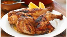 Portuguese chicken | It's quite easy to make Portuguese chicken at home. It's a simple matter of flattening a whole chicken, marinating it and drizzling it with a spicy piri piri sauce. Serve with a garden salad.