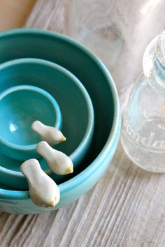 Handmade Pottery Birdie Nesting Bowls - Made-To-Order - 4-6 Weeks for Delivery. $140.00, via Etsy.