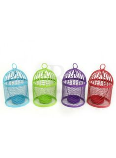 Bright Birdcage Tealight Holder @ rosefields.co.uk