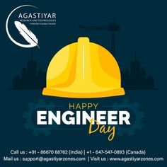 "Agastiyar Wishes #HappyEngineersDay2020 ""Science is about knowing; engineering is about doing."" #agastiyar #EngineersDay2020 #happyengineersday #Engineeringlife #EngineerDay #Engineering #technology Journal Publication, Engineers Day, Writers Help, Project Success, Engineering Technology, Journal Paper, Recent News, Digital Marketing Services, Information Technology"